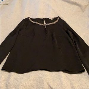 Small Black Beaded Charlotte Russe Top